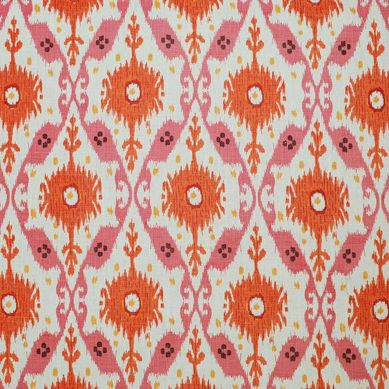 "Clarence House ""Chennai Ikat"" in Pink"