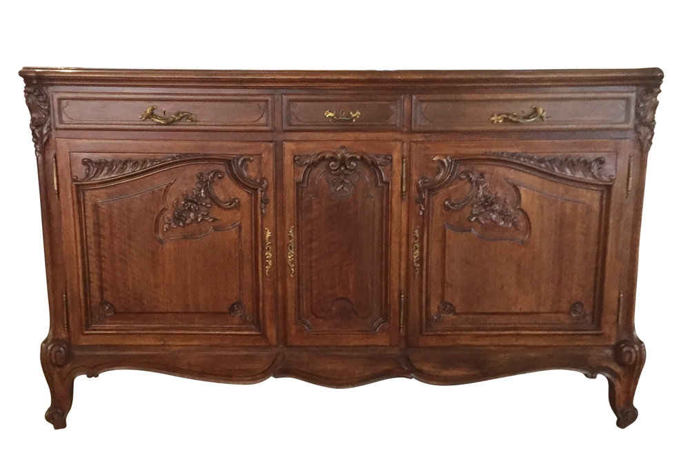 Antique French Sideboard before refinishing | Revitaliste