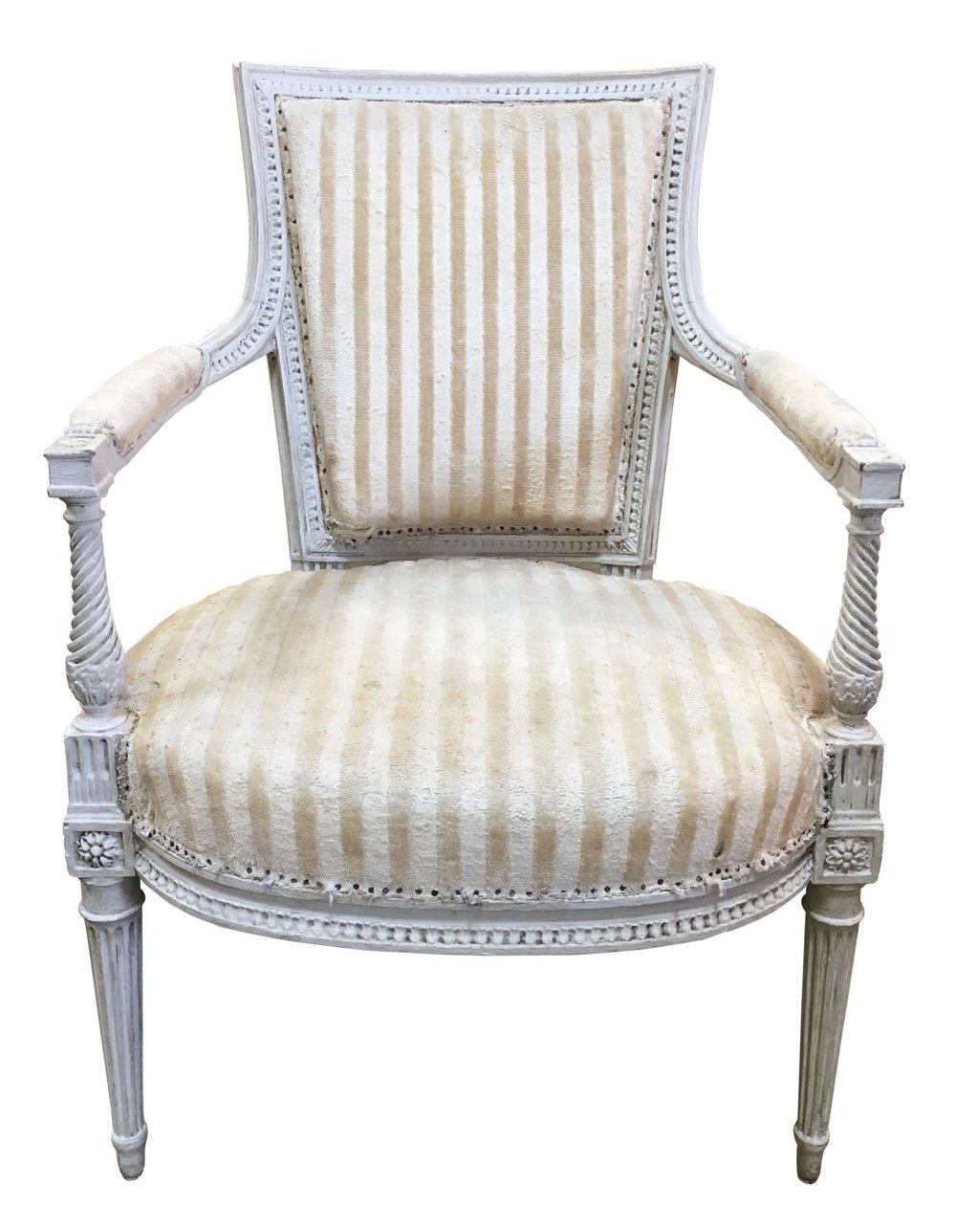 Louis XVI Armchairs before reupholstery | Revitaliste