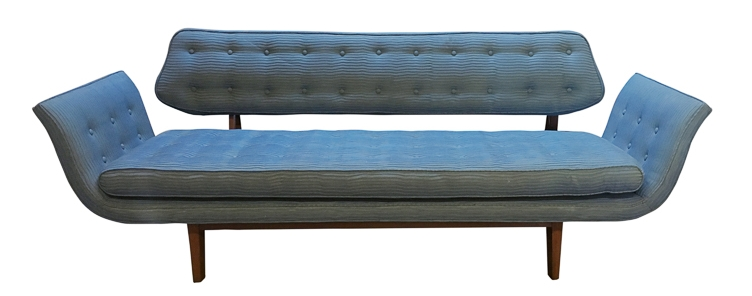 Edward Wormley Gondola Sofa before reupholstery | Revitaliste
