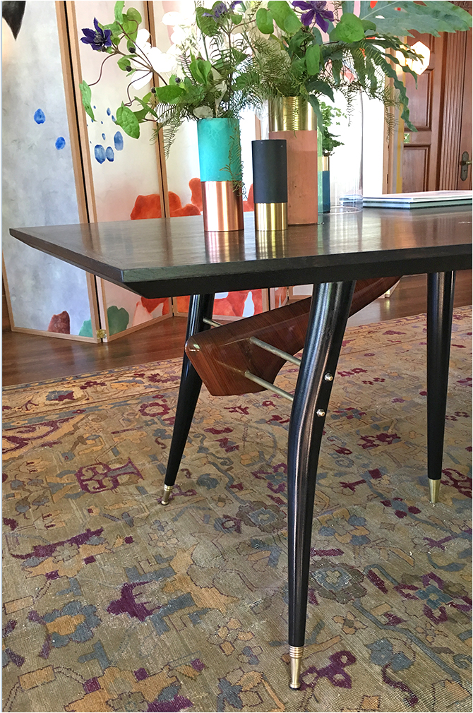 Revitaliste transformed this Gio Ponte Dining Table by creating a custom octagonal top and additional legs.
