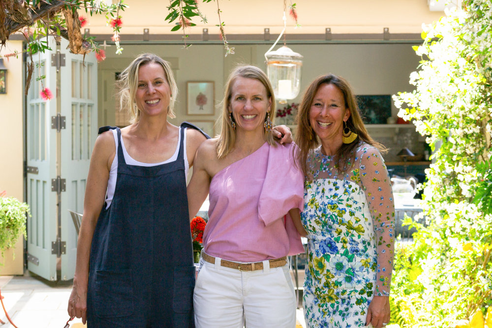 Designer and hostess Meghan Rostovsky, Revitaliste founder Amy Frederickson, and Revitaliste Director of Trade Relations Sabrina Eliasoph