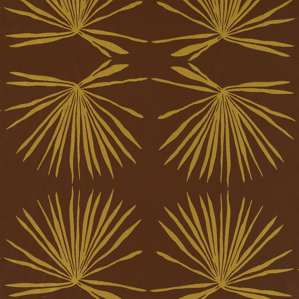 2. 'Palm' in Artichoke Colorway by Hable Construction - This palm print from Hable Construction feels at once desert chic and unquestionably fall. With its natural lines of willowy palm boughs and soft saffron yellow and brown hues, this print would play well with countless color schemes.