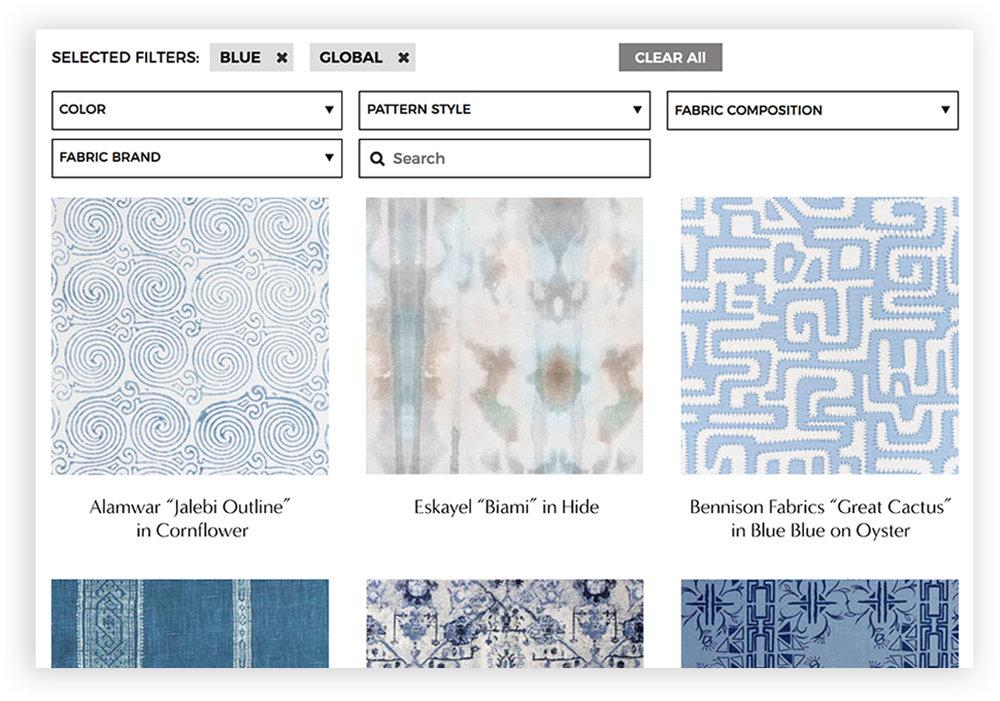 Blue Global Pattern Upholstery Fabrics