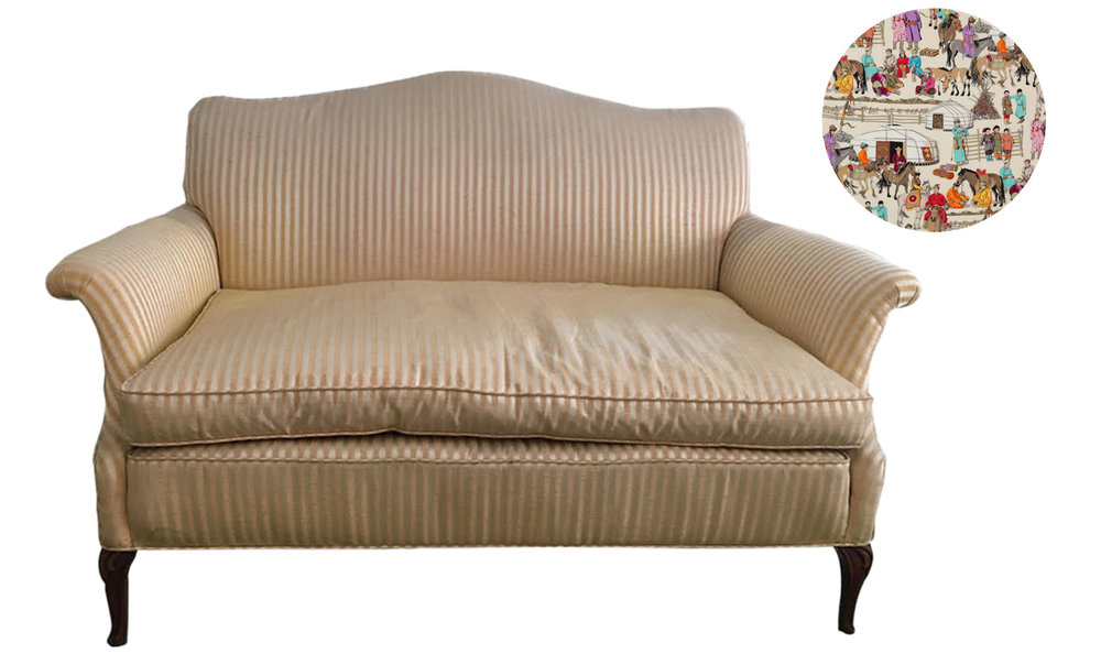 How to reupholster an antique loveseat | Upholstery Service Los Angeles