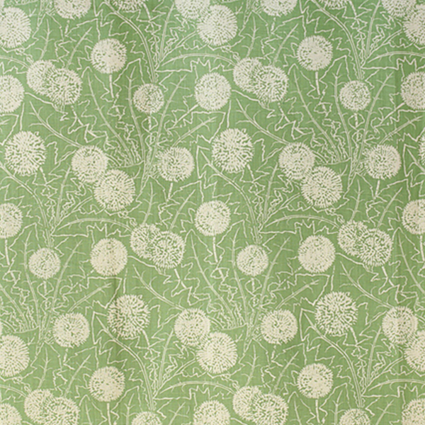 """2. Carolina Irving Textiles """"Palermo"""" in Apple - 'Palermo' in Apple green is a subtler dose of color, and well-suited to mix with neutrals. With a hand-drawn pattern, this pretty cotton fabric has a touch of whimsy while still feeling crisp and clean."""