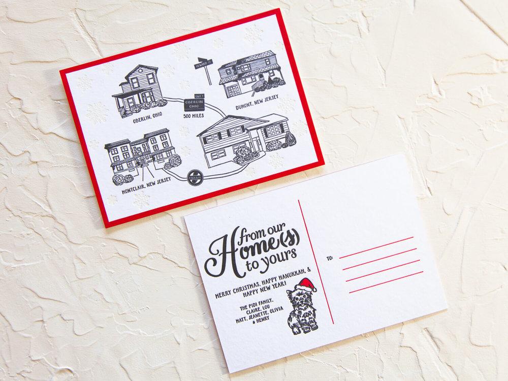 custom letterpress holiday cards jeanette pidi design letterpress invitations graphic design jeanette pidi design - Letterpress Holiday Cards