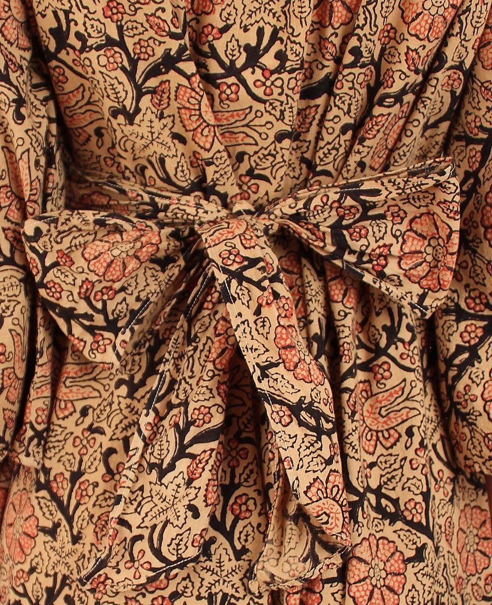 ab291e0bd ViNtAgE Indian Cotton Maxi Dress    Hand Block Printed    Woodstock Era —  Hellhound Vintage