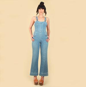 2b2ed85857c vintage 70s denim jumpsuit hellhound vintage hellhoundvintage jeans bib  overalls light denim vintage clothing fashion style