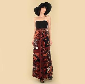 82baa5c065 Vintage Emilio Pucci Velvet Maxi Skirt Top  hellhoundvintage 70s 1970s  70sfashion 70sstyle hellhoundvintage hellhound vintage