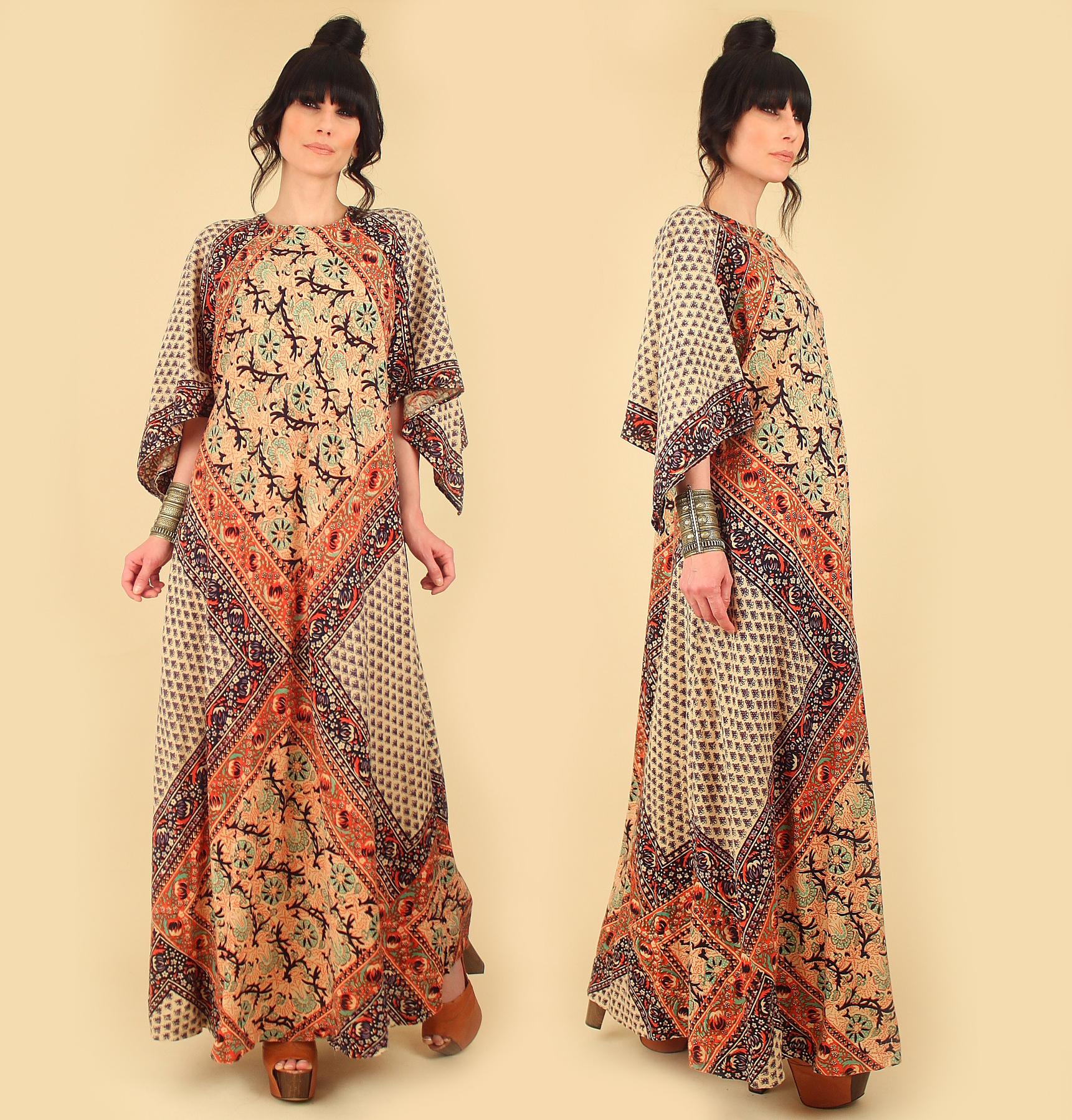 Vintage Bohemian Cotton Dresses 1970s Indian Gauze Cotton Authentic True  Real Vintage Woodstock \u2014 Hellhound Vintage