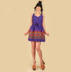 57ec07386d4 aaIMG 3862.JPGd copy edited-1.jpg. Vintage 60 s Colorful Floral Mini Dress  ...
