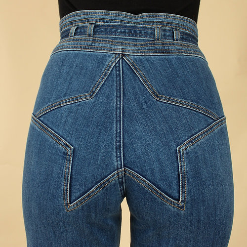 2428dac6e214 Stoned Immaculate STAR Bell Bottom Jeans    Size 26 + 27 + 28    Made in  Los Angeles