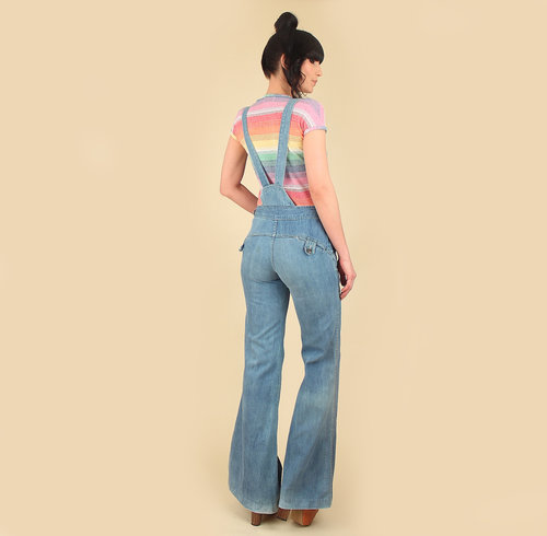 9f8e3152d6c ViNtAgE 1970s FADED GLORY Bib Overalls    High Waisted Bell Bottoms ...