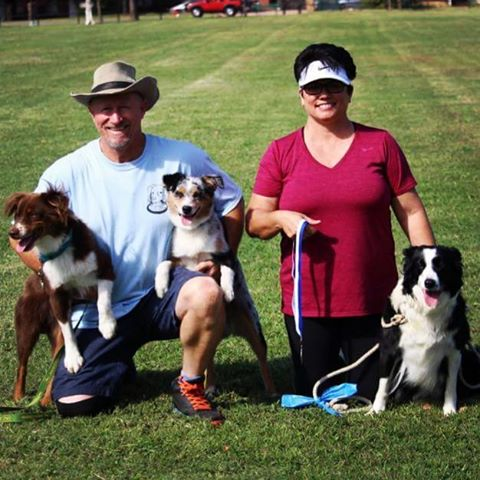 Second Chance Dog Days Pro Toss and Catch Winners Lee F with JC and Lynda with Maggie. (also pictured 5th place JD) Full List of Results:  http://www.okcdiscdogs.com/2016/