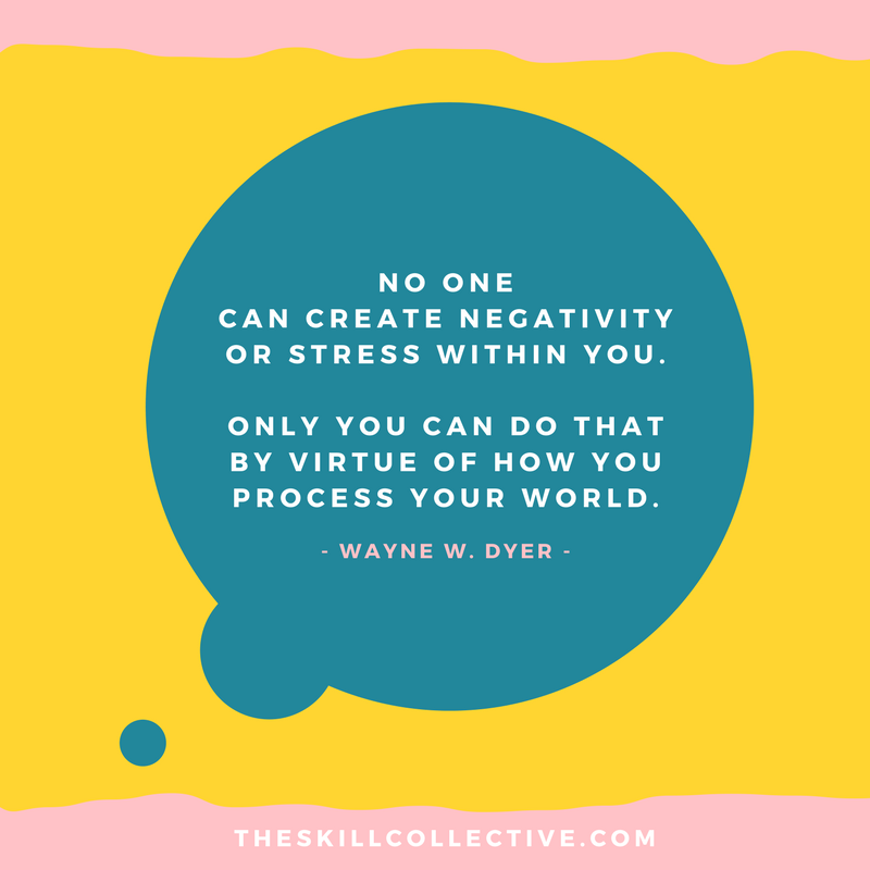 Stress Quote Alluring Quote Of The Day No One Can Create Negativity Or Stress Within