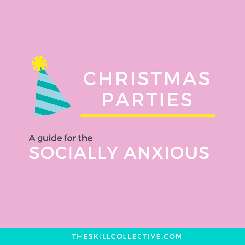 Christmas party social anxiety shy introvert help the skill collective psychologist counselling subiaco perth stress burnout