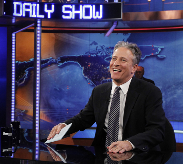 So, I love this show SO much. I've been saving the last week of shows with Jon Stewart hosting on the DVR because I'm so sad, I'm intentionally stretching it out. I won't have time to catch up once school starts, so this next week I've got to bring myself to watch them.