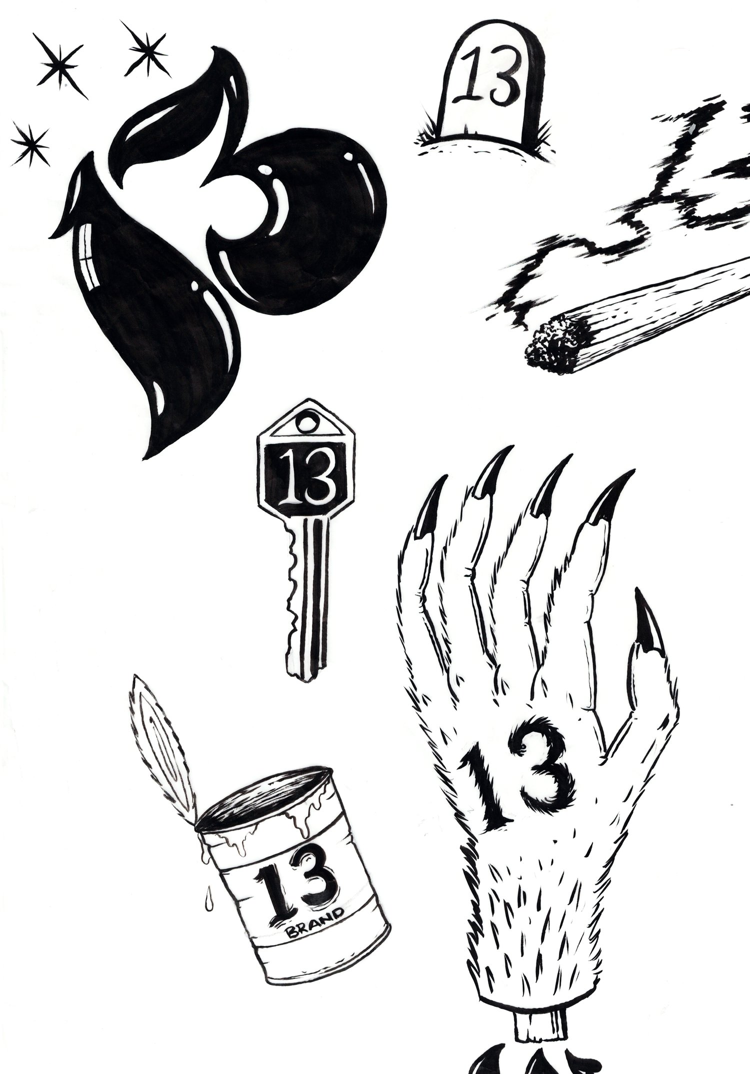 Friday The 13th Tattoo Flash Best Tattoo Ideas