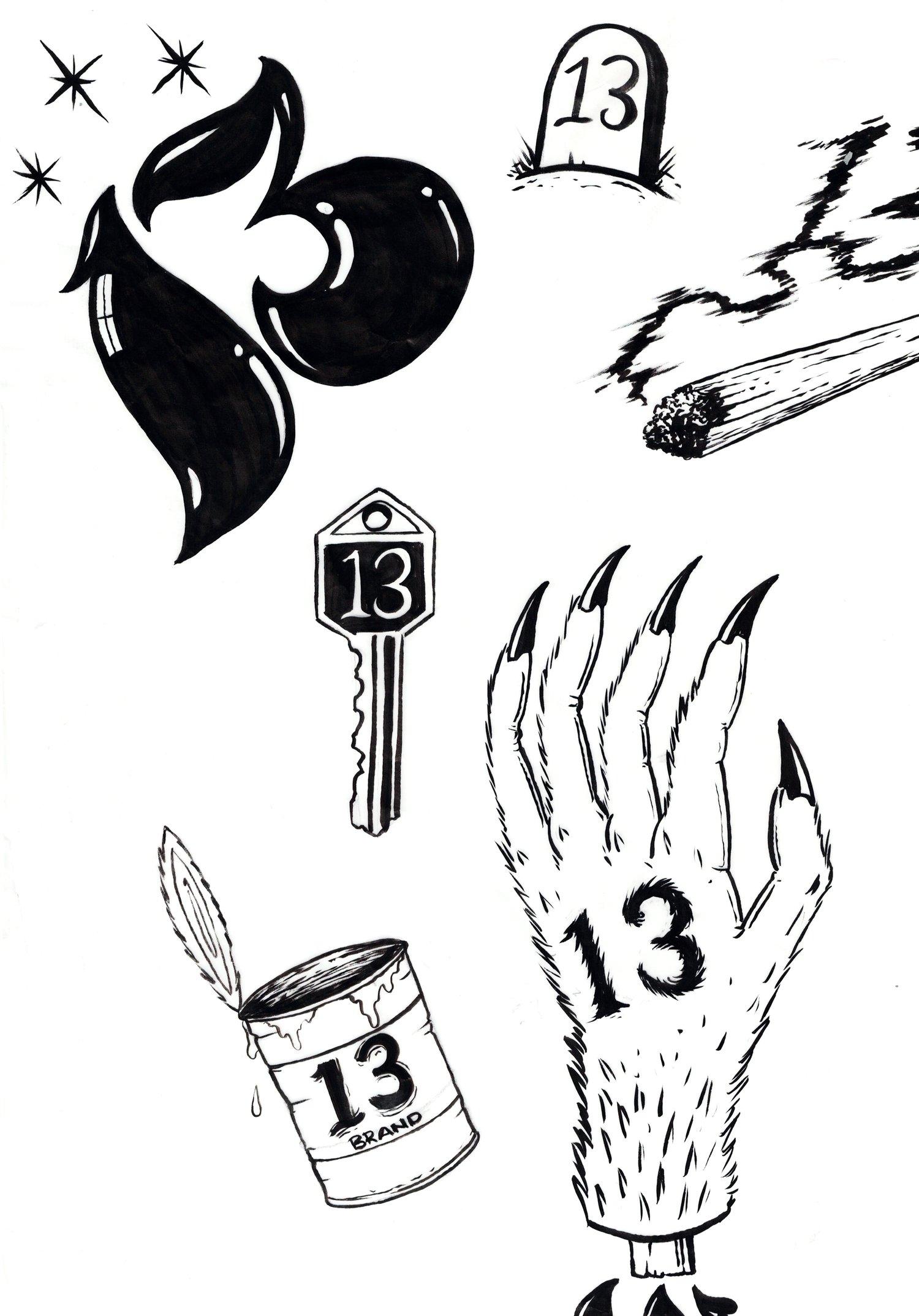 Friday The 13th Tattoo Flash Best Tattoo Ideas