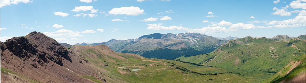 From the top of West Maroon Pass look SW.