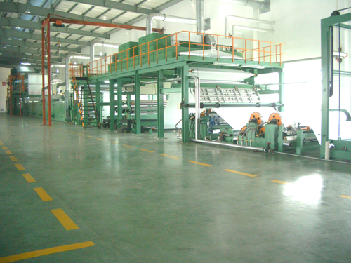 This line is for the production of synthetic leather by means of multiple surface treatment and heat set tentering.