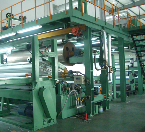 Extrusion coating of substrates with PVC, PE, PU and others for the production of composite products for various end use