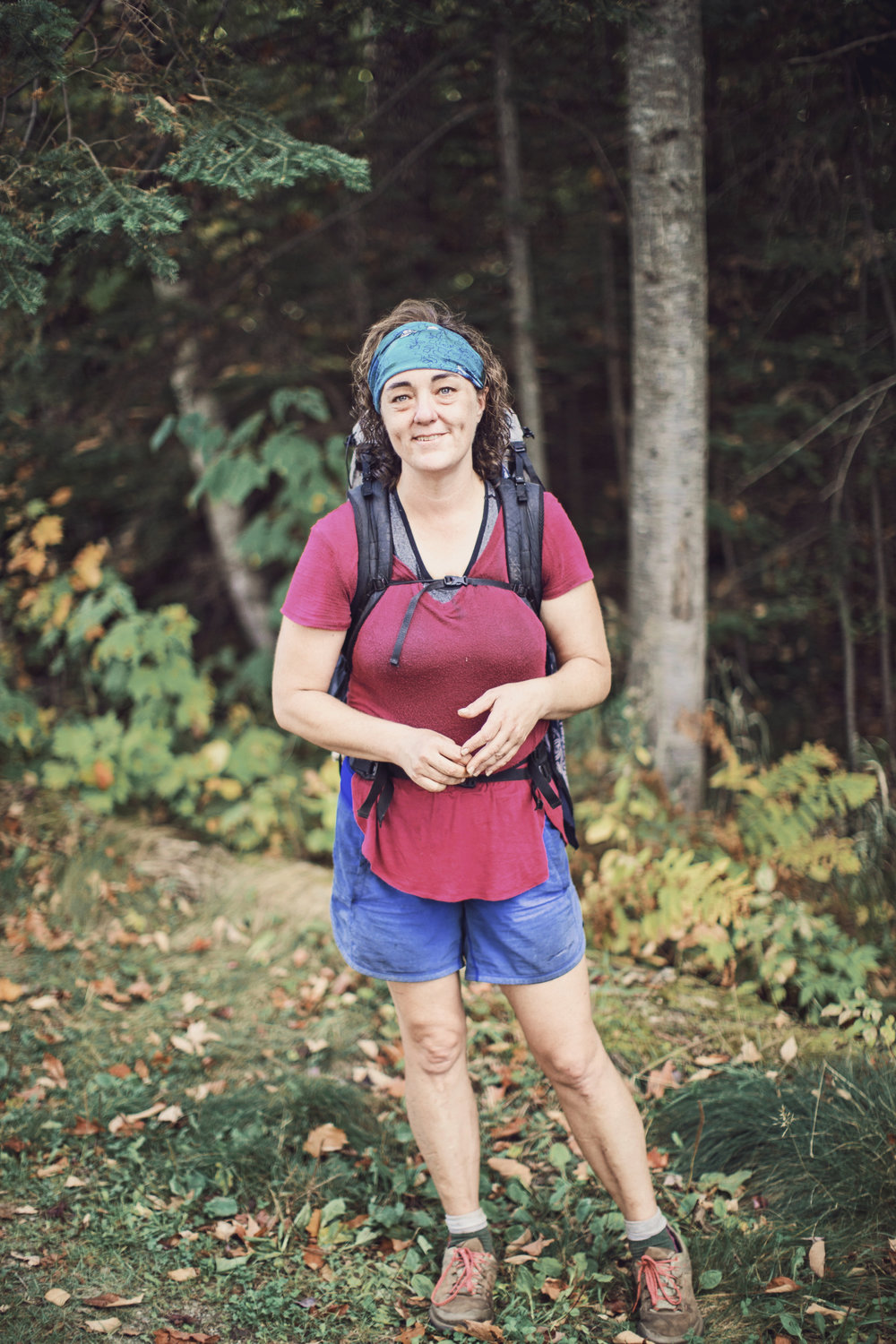 """I heard about the trail probably 20 years ago and I've wanted to hike the trail since I heard about it"" says Wendy. ""The reason why I wanted to do it is because I knew it would be difficult. It's always in those difficult things you do that you learn the most about yourself, the most about life lessons. I just wondered what I could learn from this trail. I sat on the side of the trail in Maine, talking to Wendy when she only had 200 more miles to go. She continues ""I think somewhere along the way I learned those lessons and I learned to pour myself into it and it became even more important that I finish to show people that they can do things that they didn't think they could do."" I asked Wendy if she had any doubters. ""Absolutely"" she said, ""especially myself. I didn't even think I would make it out of Georgia."" Wendy quit her job to free up time to hike the trail. When she finishes she plans to open a food truck!"