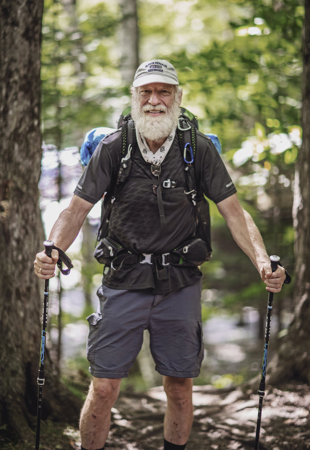 """I started the Appalachian Trail because I have a degree in Appalachian folk music from Berea College in Kentucky. I decided that now I'm retired at 59 and a half years old, I wanted to continue my teaching of folk music and the best way to support my ideas would be to immerse myself in the culture of the Appalachian Mountains, and the best way to immerse myself in the culture is to hike the trail!"""