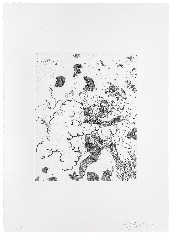 2018, etching