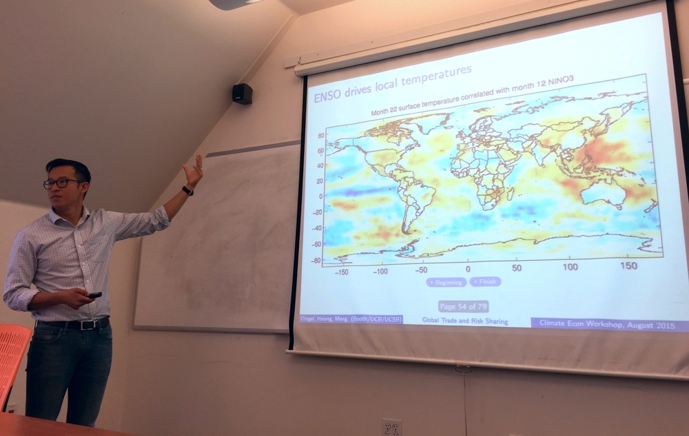 Kyle Meng (UCSB) presents research on ENSO and global trade