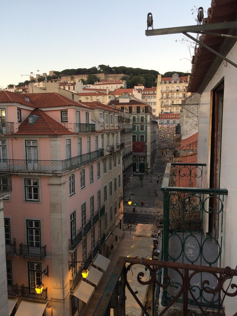 View from our hotel ~ Hotel Duas Nações