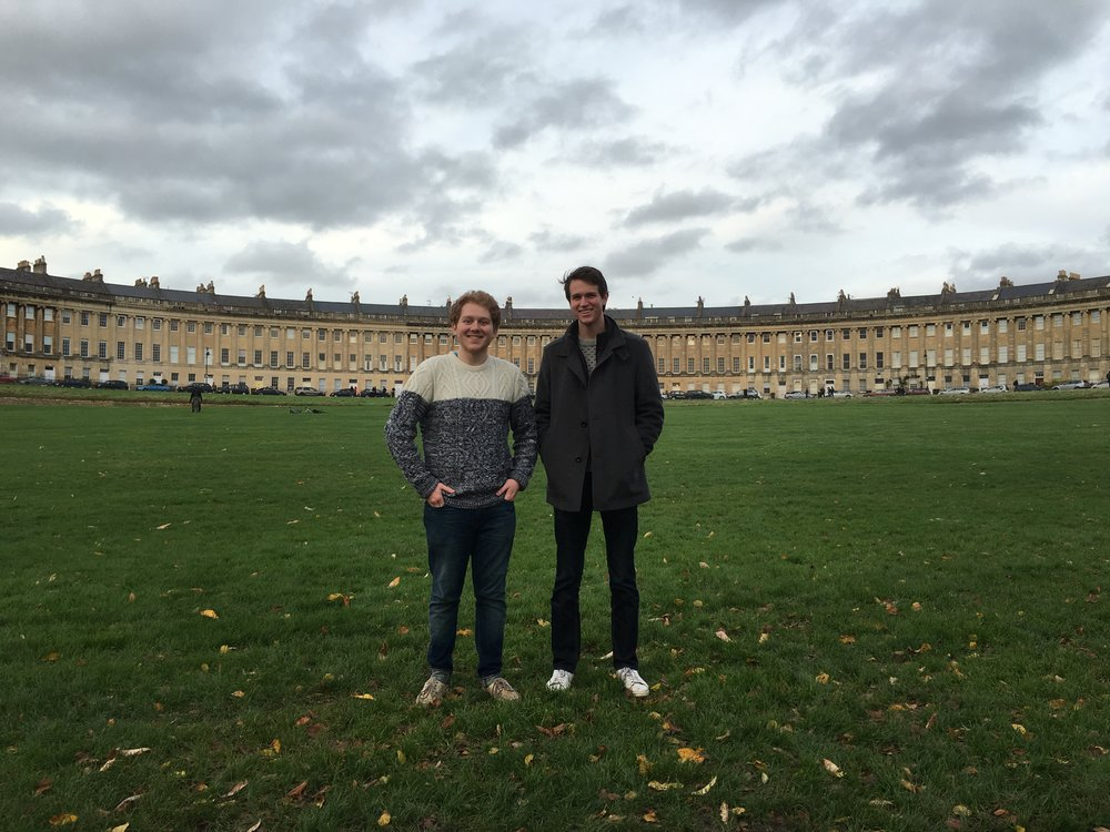 Nick and myself, Bath, 2015