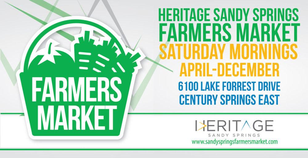Heritage Sandy Springs Farmers Market | August to December, 2017