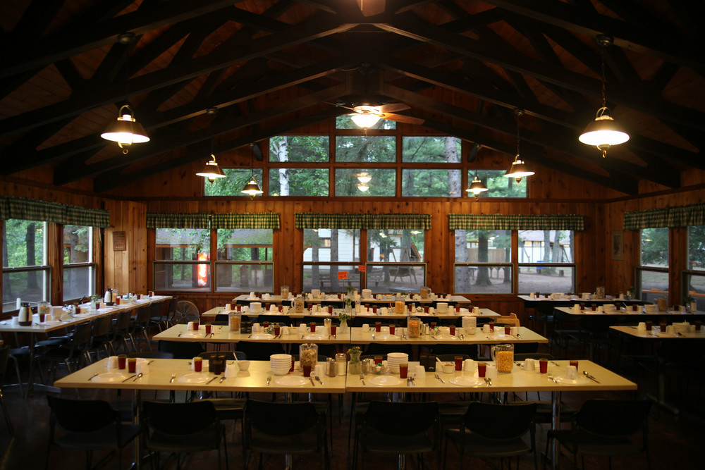 The Dining Hall seats 175. Our staff and volunteers work hard to provide well-balanced meals that taste delicious.