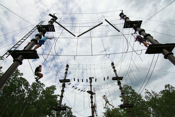 Consider having our staff facilitate an experience for your group on our Adventure Challenge Course. Activities include a High Ropes course, Climbing Tower, Zip Line, and Low Ropes (team building) activities.
