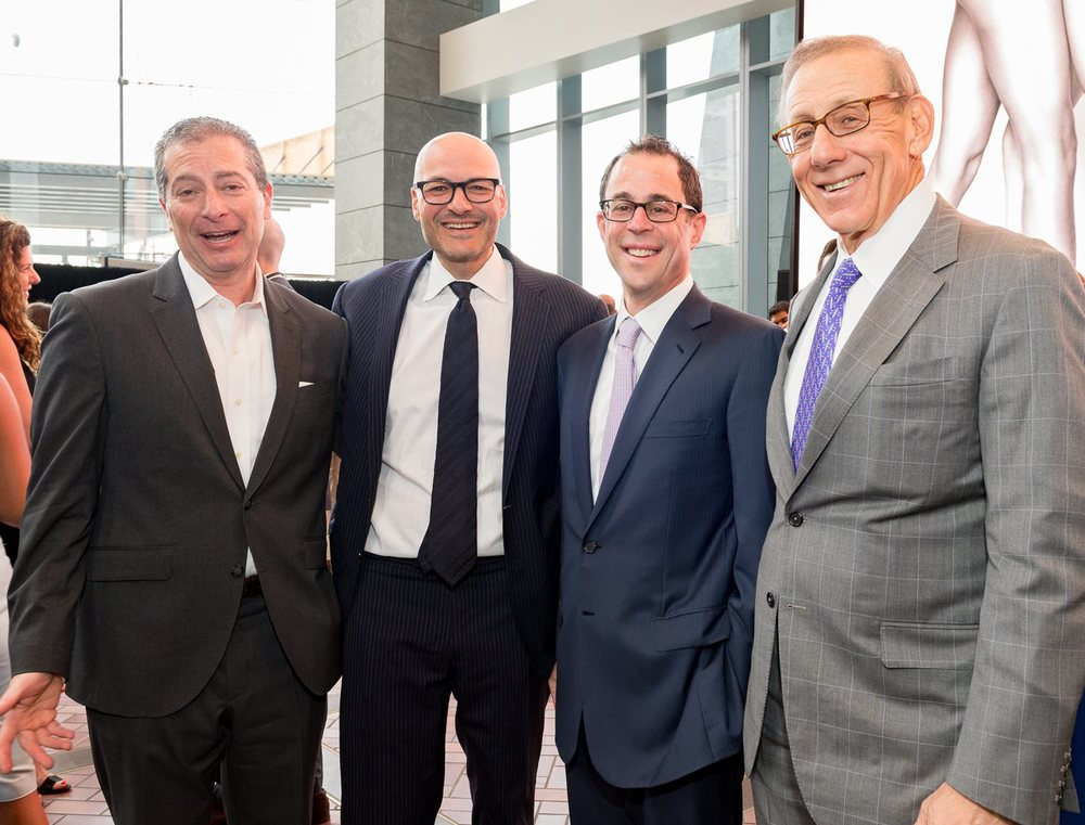 Jeff Blau (2nd From Right), Stephen M. Ross (Far Right)