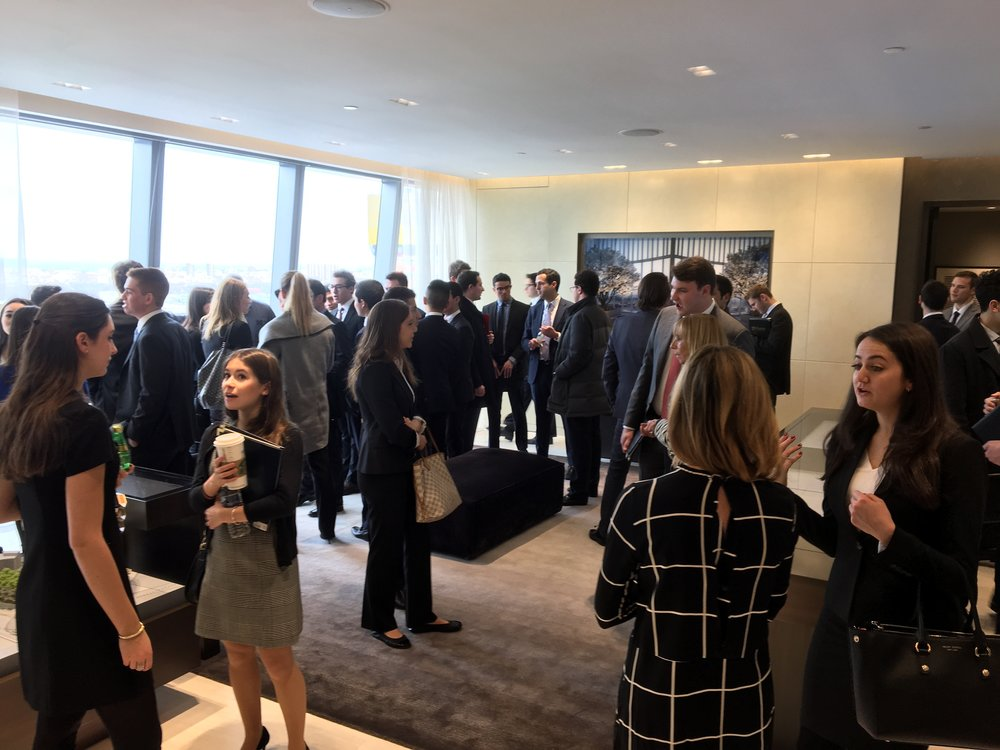Members get a tour of the Hudson Yards sales gallery from Related Cos., led by CEO Jeff Blau.