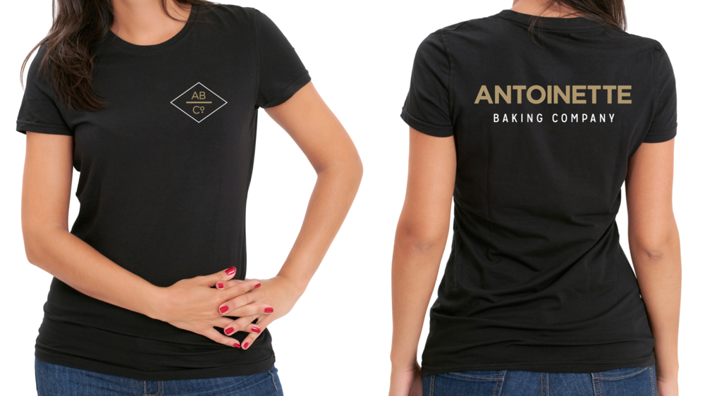 antoinette baking company branding – shirt