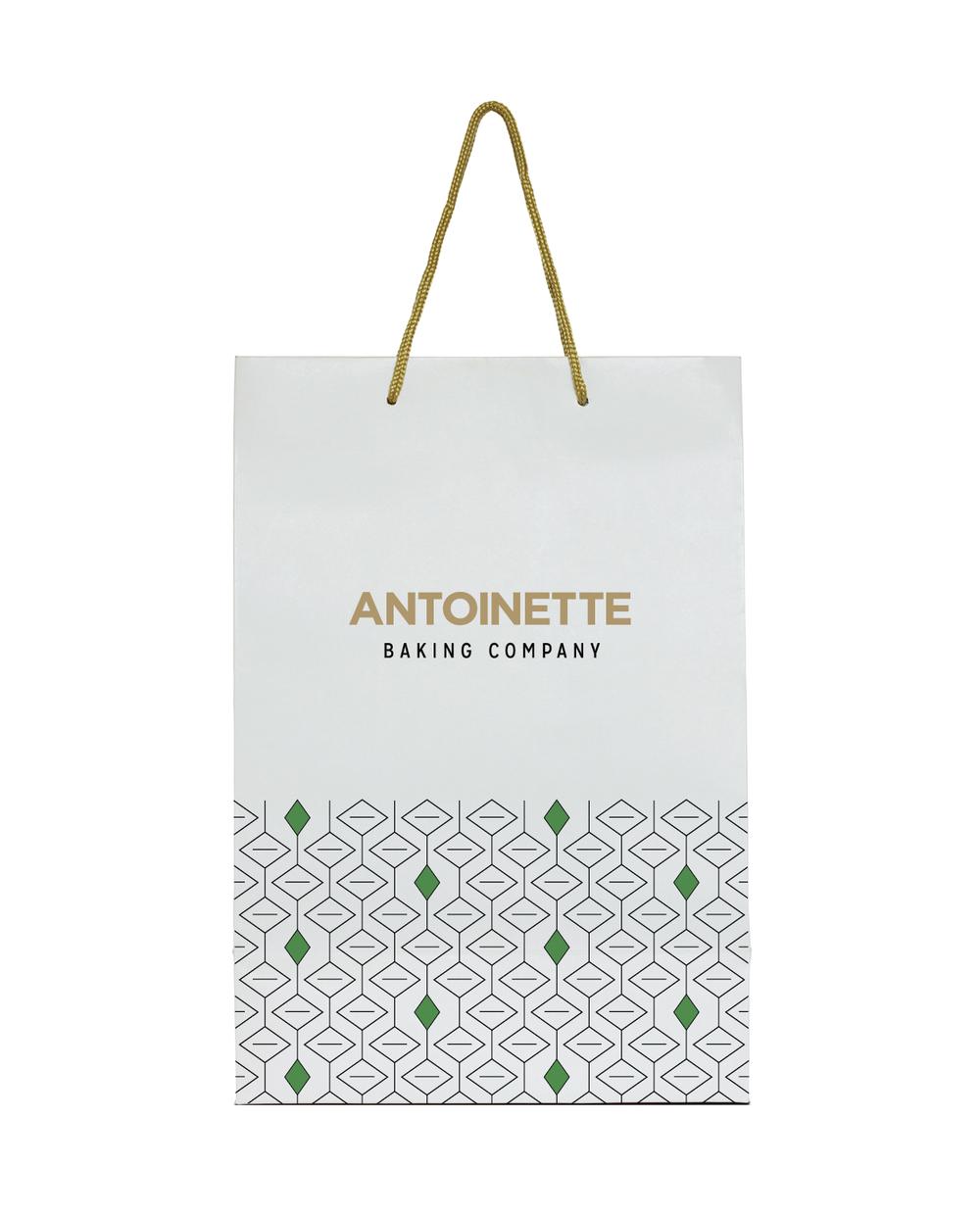 antoinette baking company branding – bag