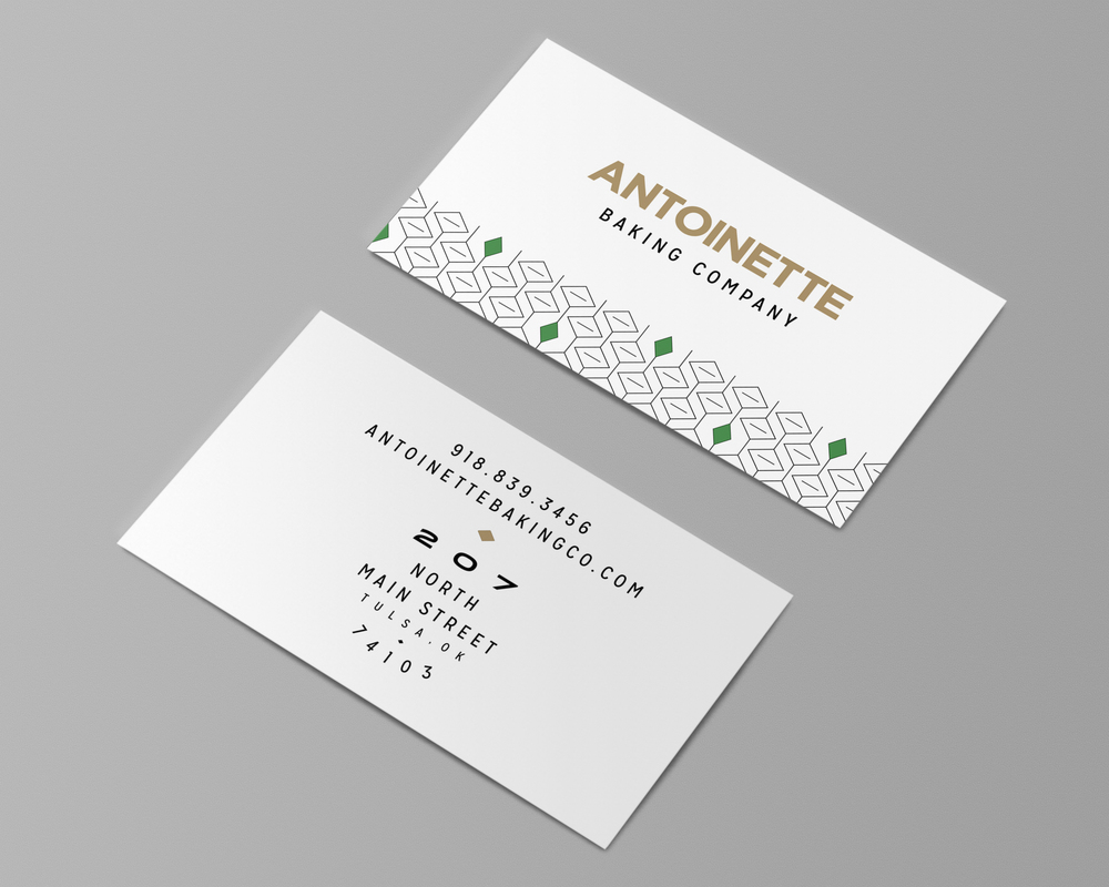 antoinette baking company branding – business cards