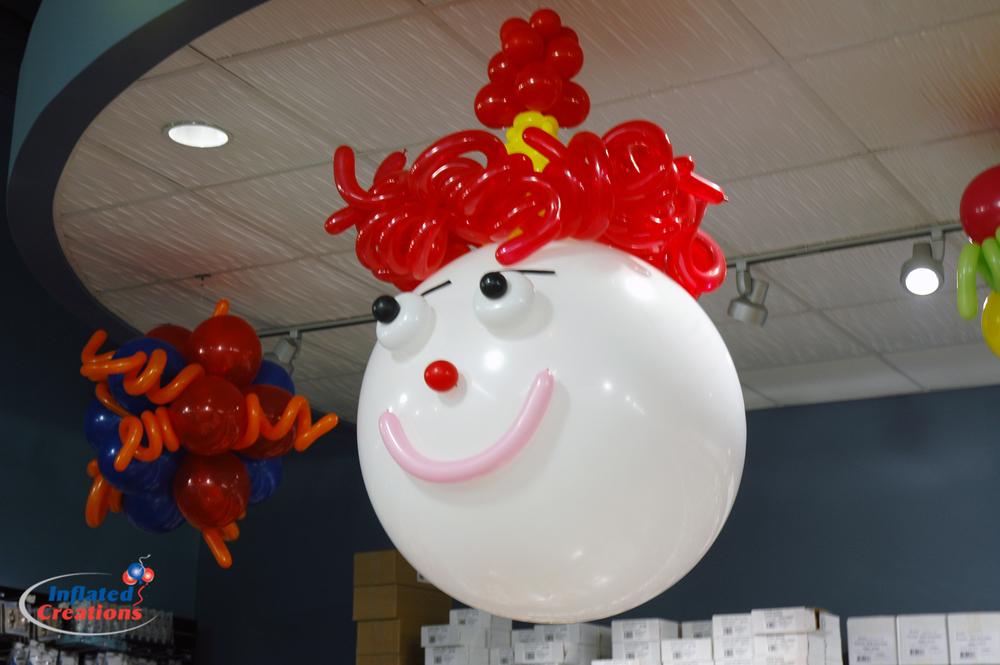 Clown head hanging