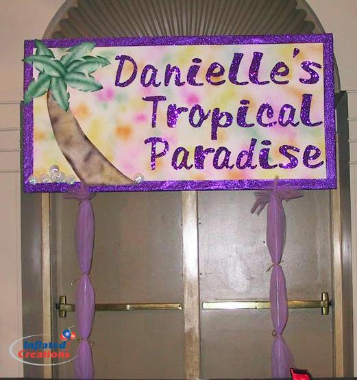Entry Sign - Tropical Paradise