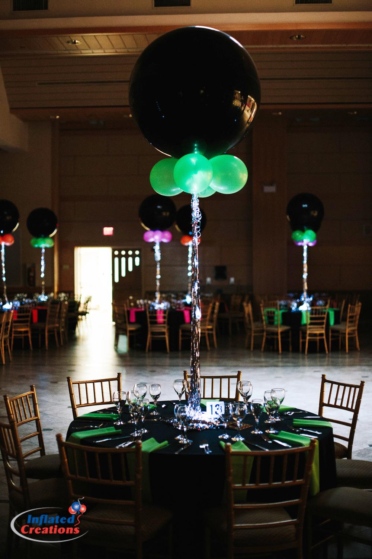 Three Foot Balloon with Neon