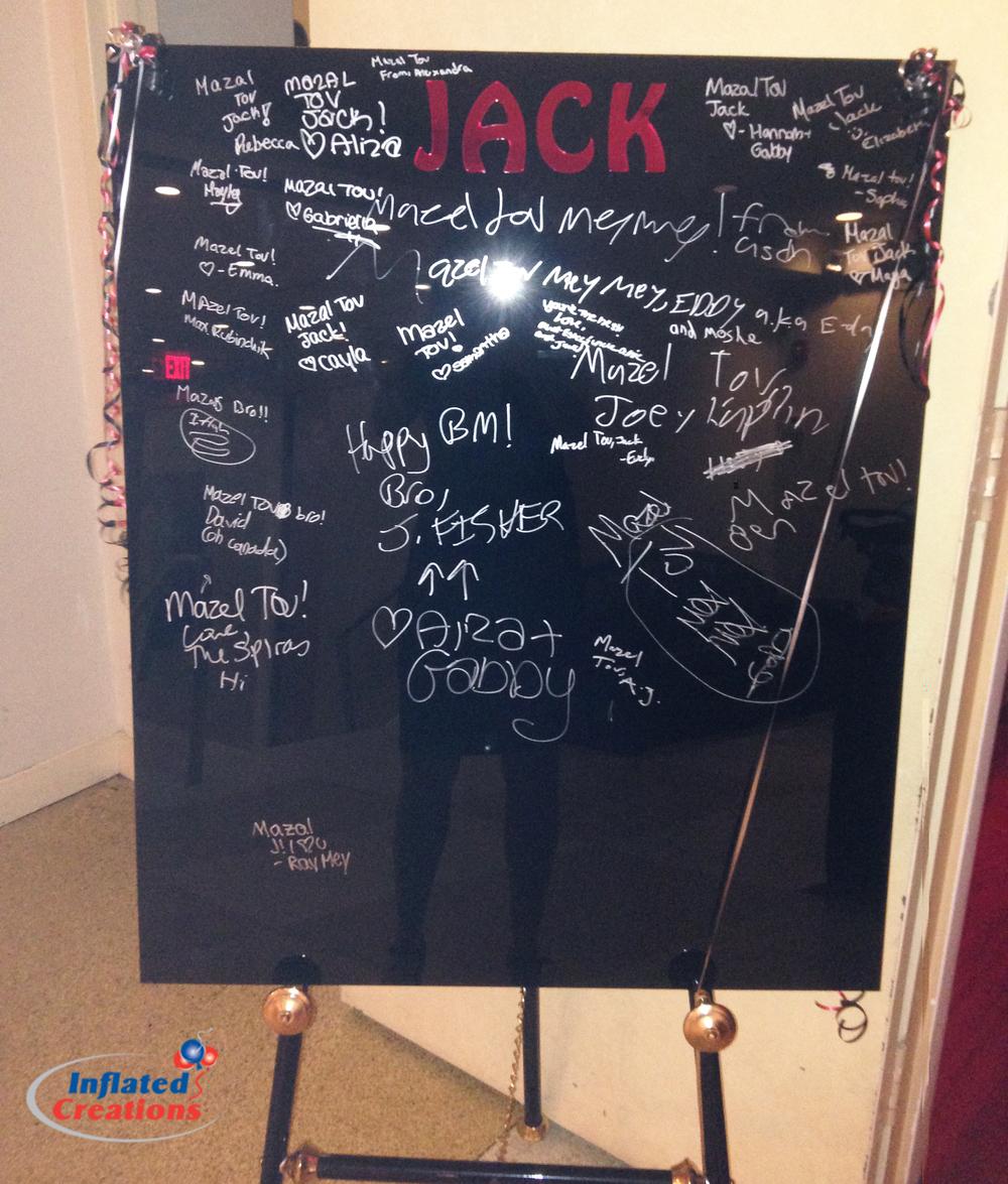 Black Acrylic Sign In Board