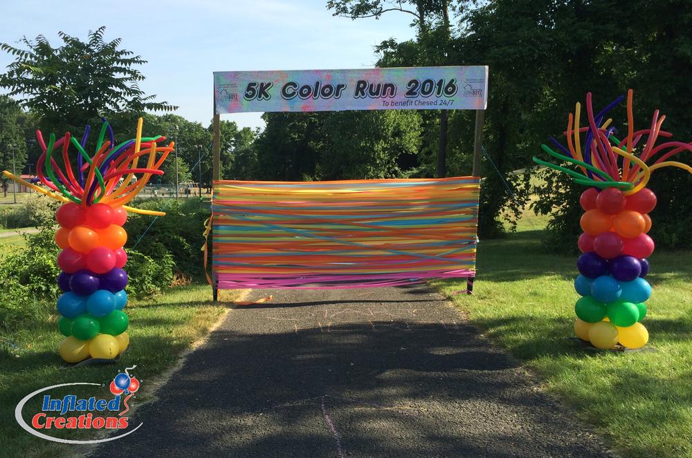 Rainbow 5k Chesed 24/7 Color Run Column