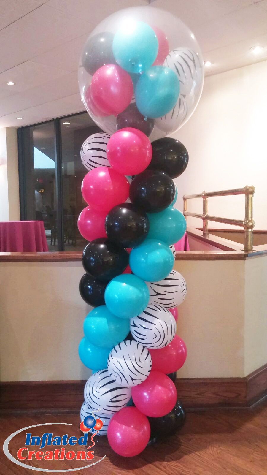 Three Foot Top - Stuffed Zebra Spiral