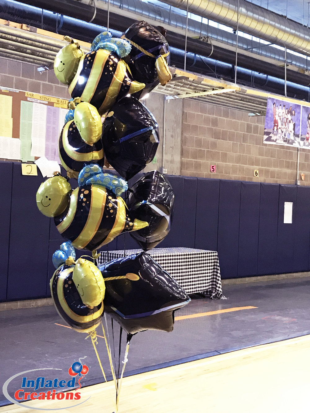 Mylar Bouquet - Busy Bee Graduation Cap