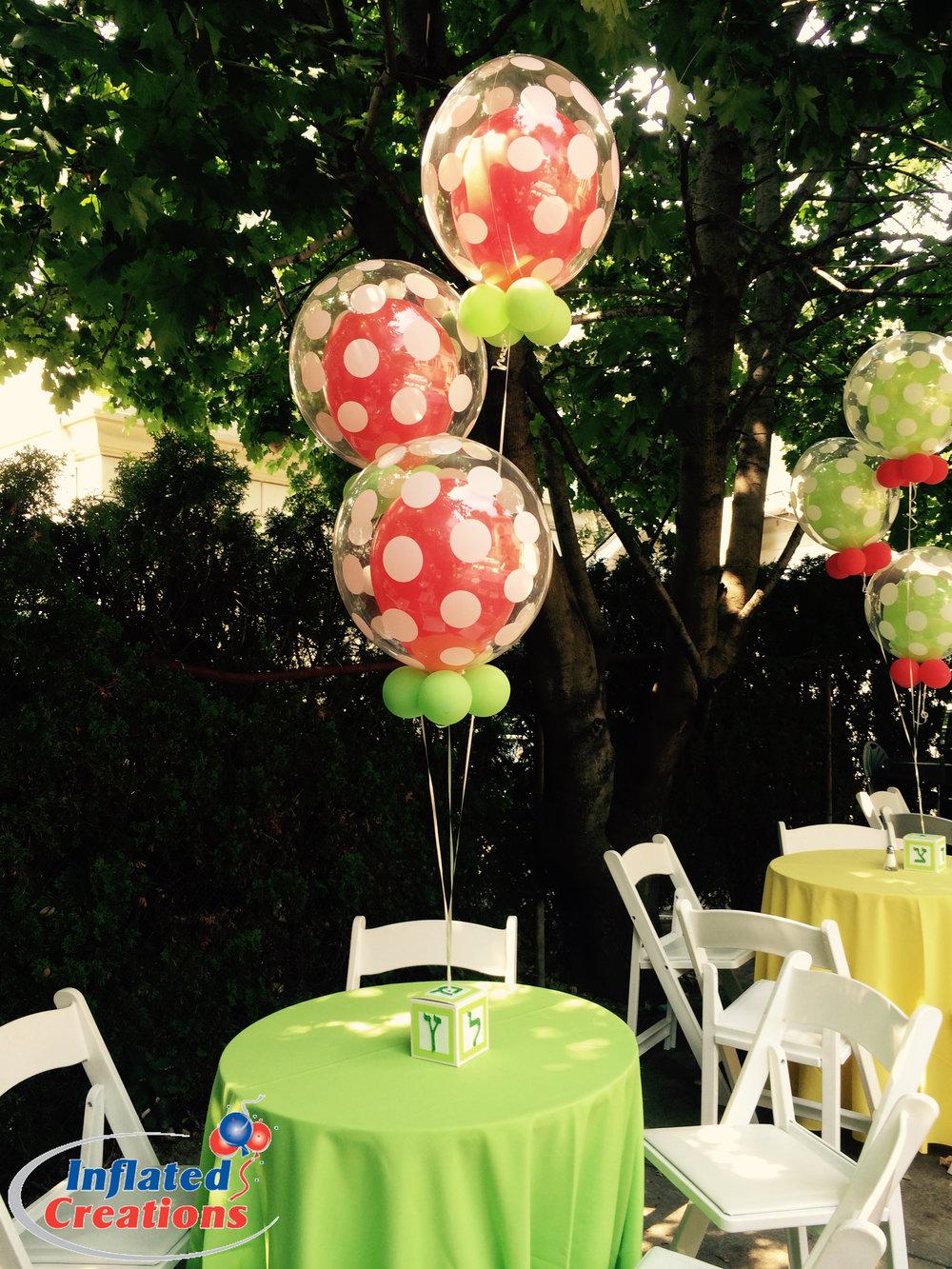 Double-Bubble Polka Dot Balloons
