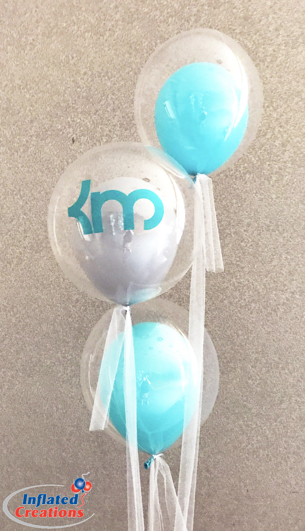 Monogram Bubble Balloons